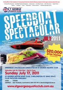 july 2011 speedboat spectacular poster