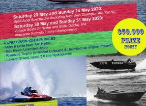 Centenary Speedboat Spectacular E.O.I. now open